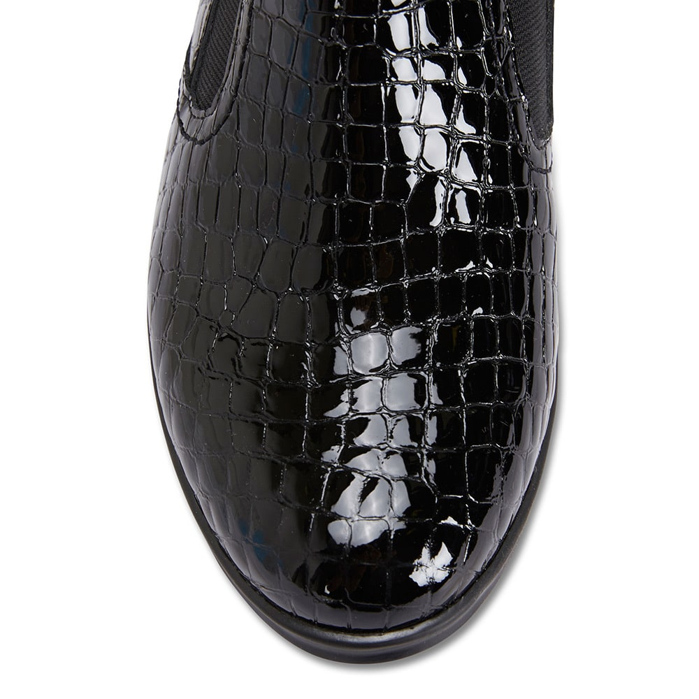 Harris Boot in Black Patent
