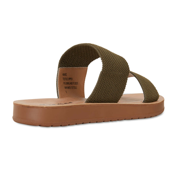 Havoc Slide in Khaki Fabric