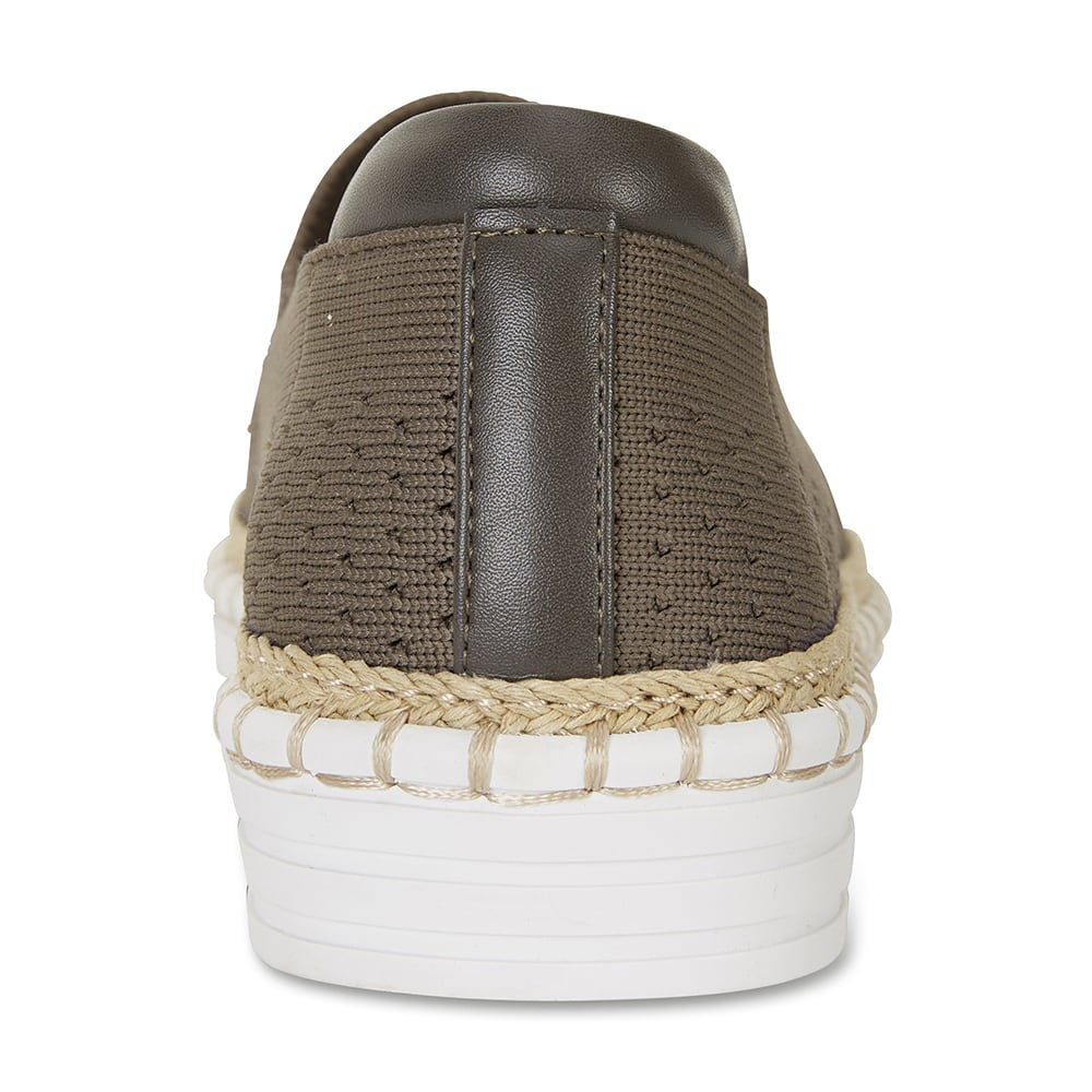 Heart Sneaker in Khaki Fabric