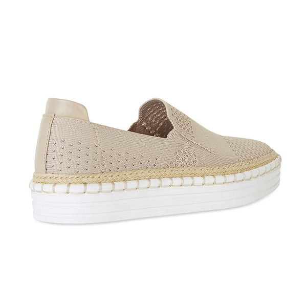 Heart Sneaker in Natural Fabric