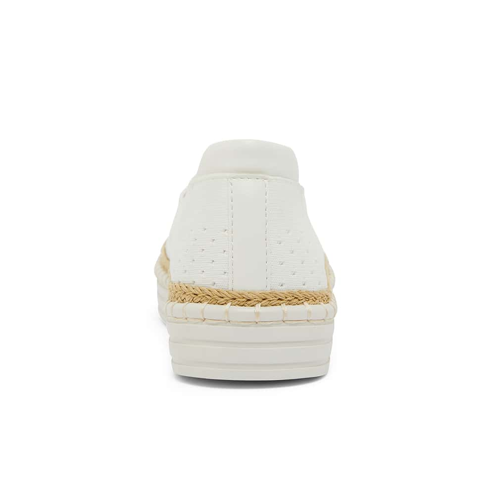 Heart Sneaker in White Smooth