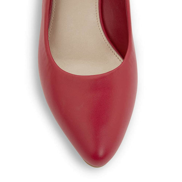 Henry Heel in Cherry Leather