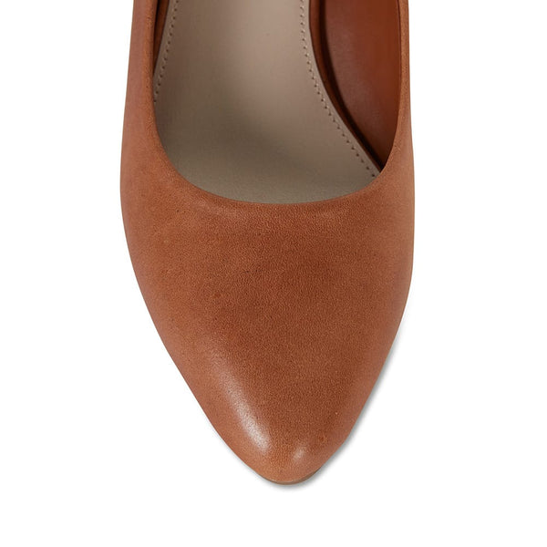 Henry Heel in Cognac Leather