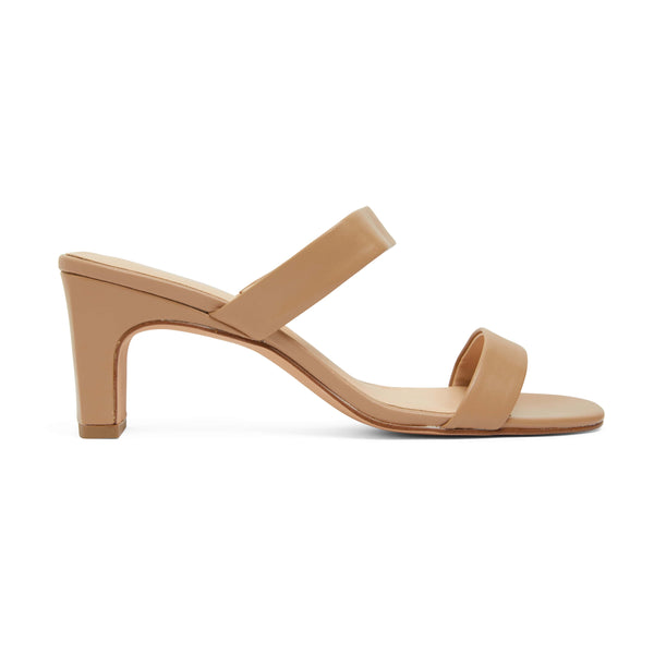 Hepburn Heel in Camel Leather