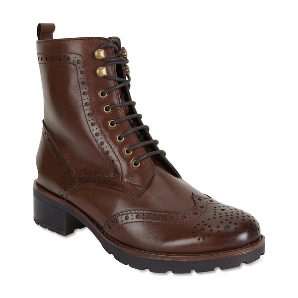Ian Boot in Brown Leather