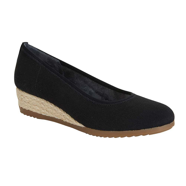 Inferno Espadrille in Black Fabric