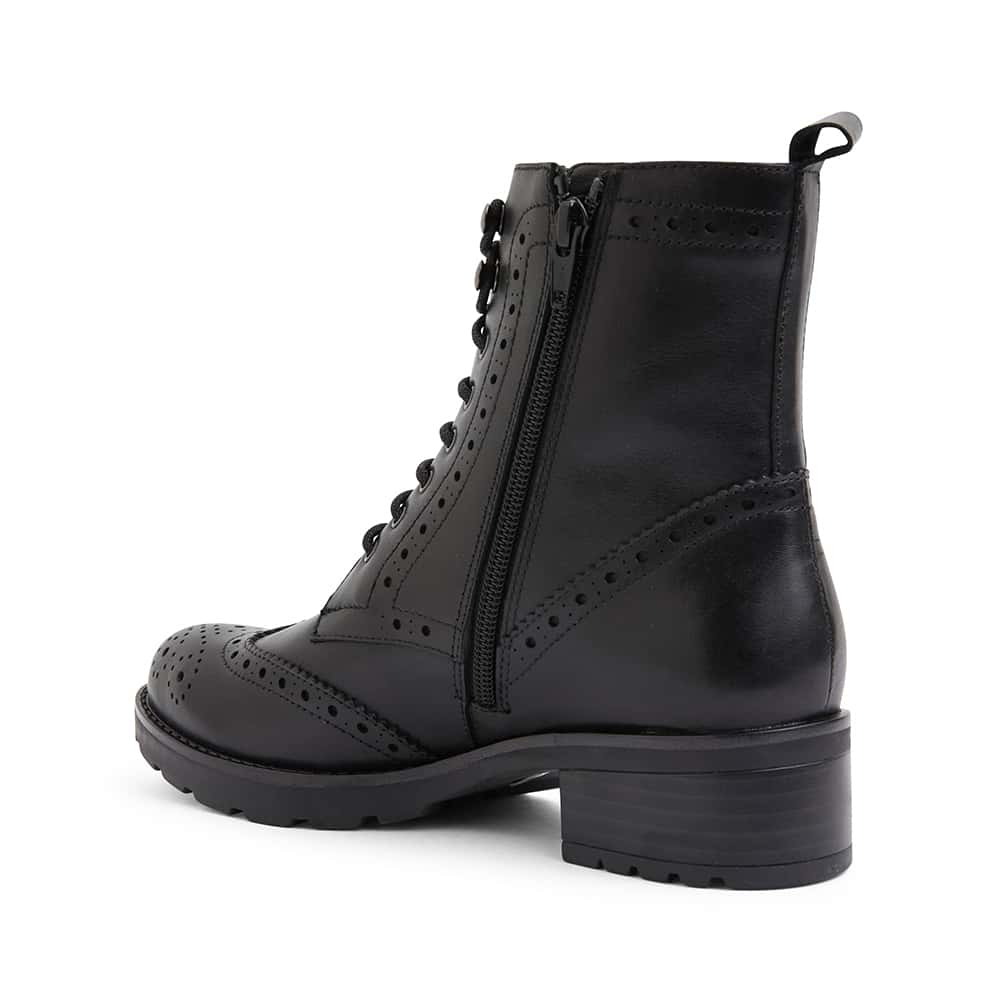 Ivan Boot in Black Leather