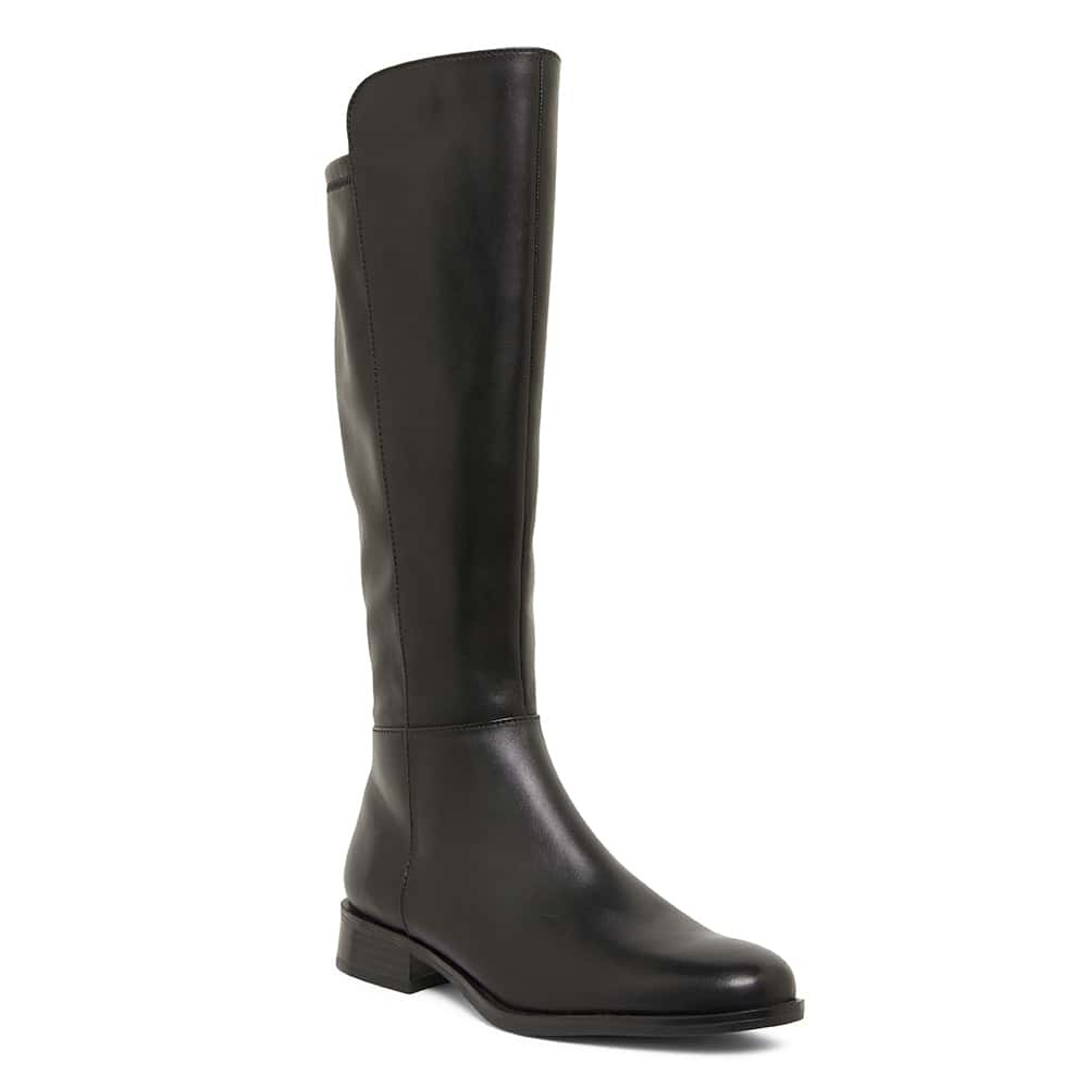 Jackpot Boot in Black Leather