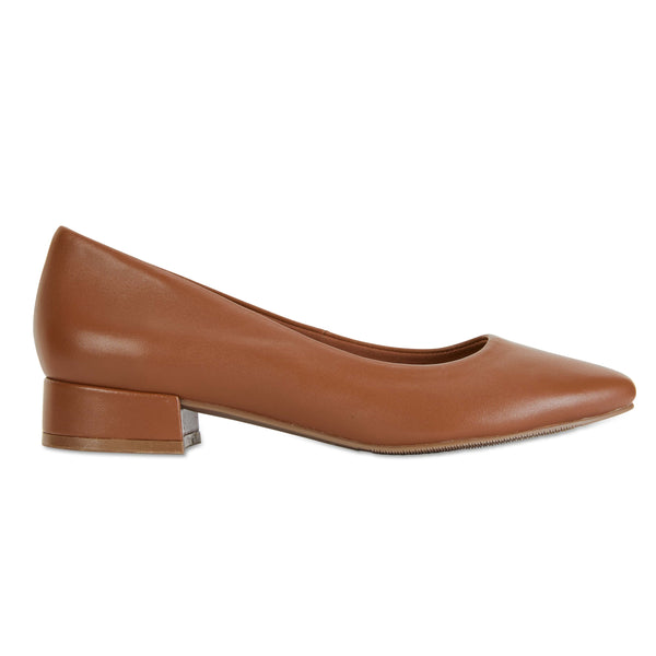 Janine Heel in Cognac Leather