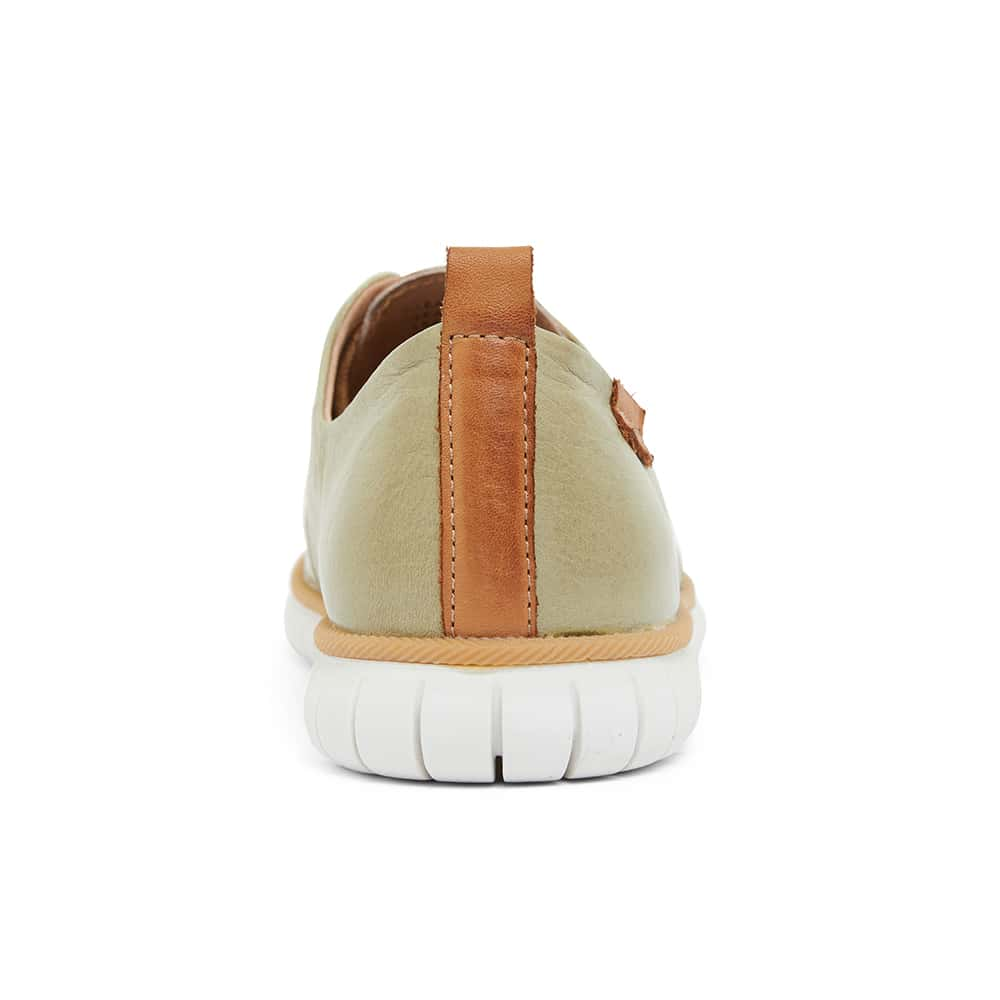 Jigsaw Sneaker in Khaki Leather