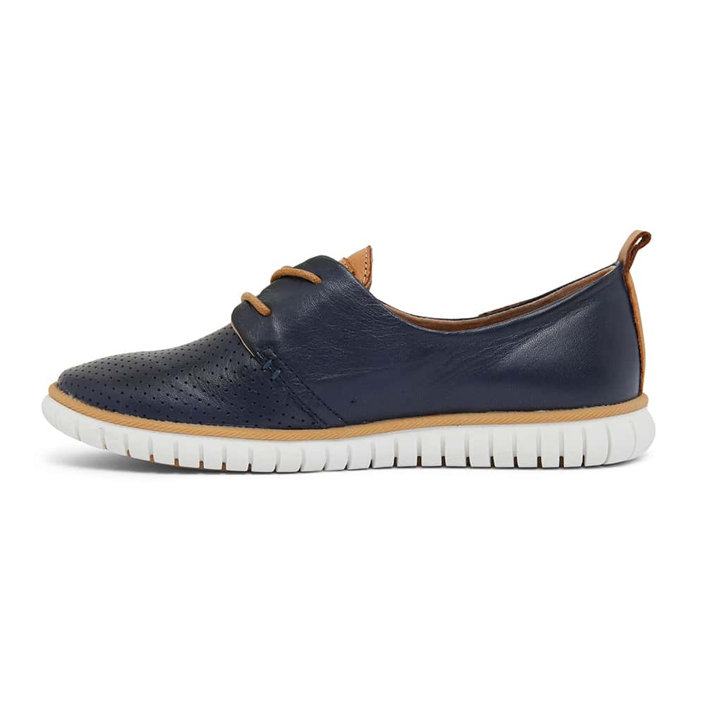 Jigsaw Sneaker in Navy Leather