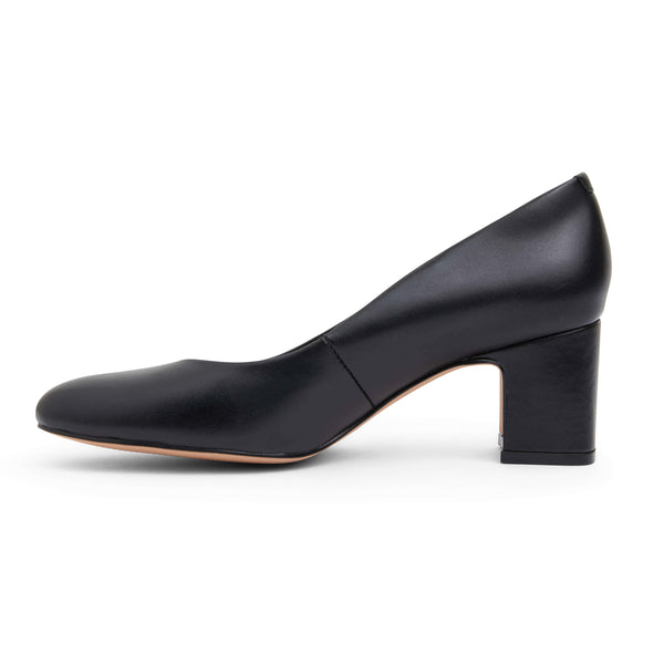 Joyce Heel in Black Leather