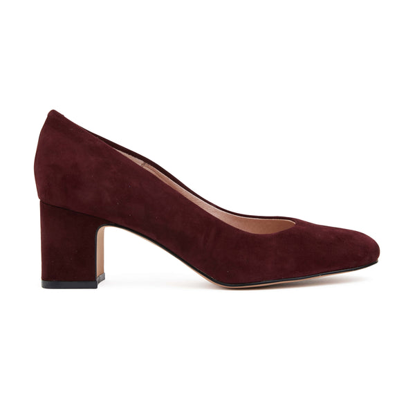 Joyce Heel in Burgundy Leather