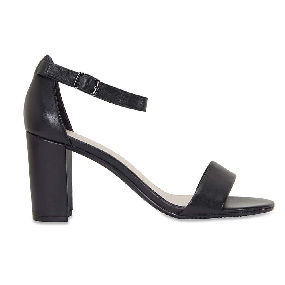 Juliet Heel in Black Leather