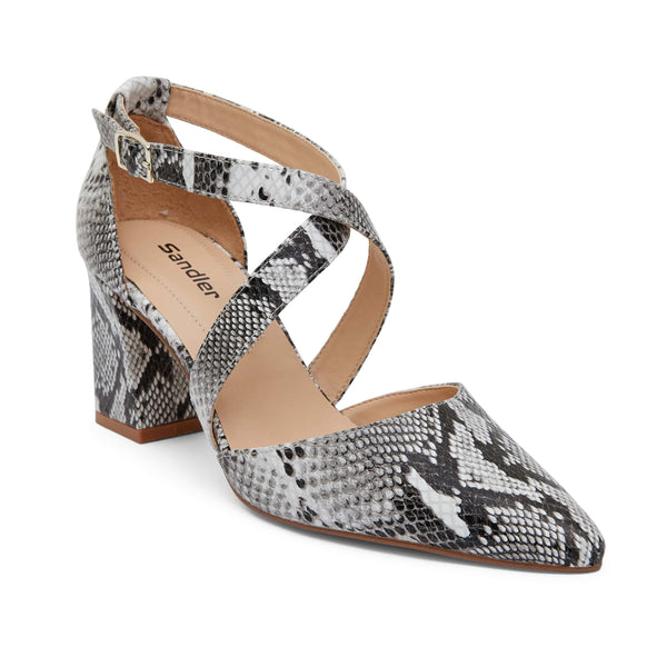 Kara Heel in Snake Leather