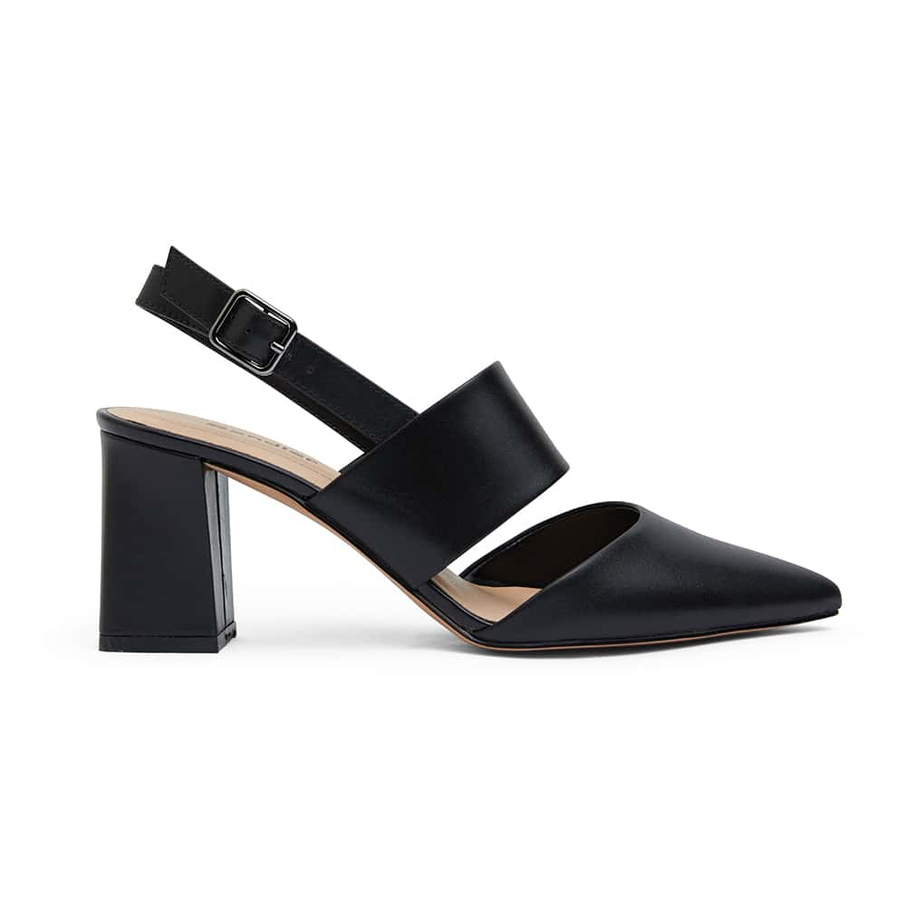 Kitson Heel in Black Leather