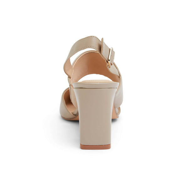 Kitson Heel in Nude Leather