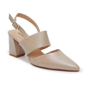 Kitson Heel in Nude Patent