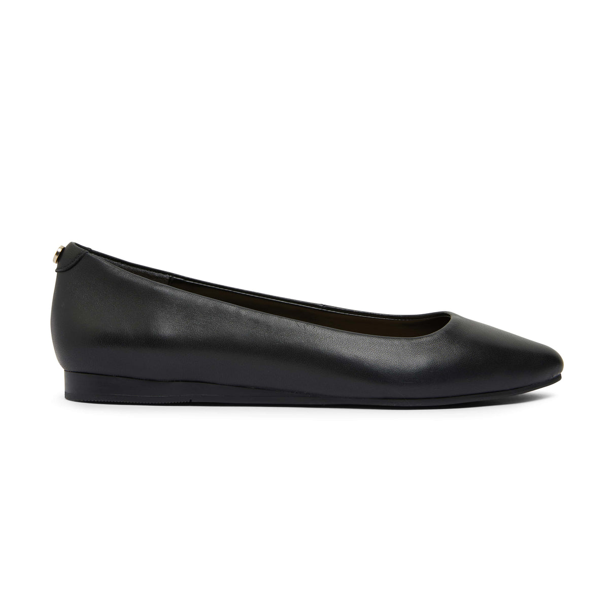 Laura Flat in Black Leather