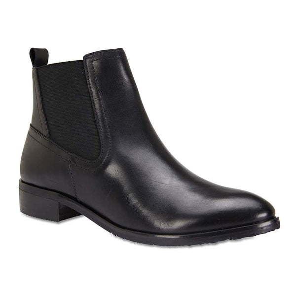 Leonard Boot in Black Leather