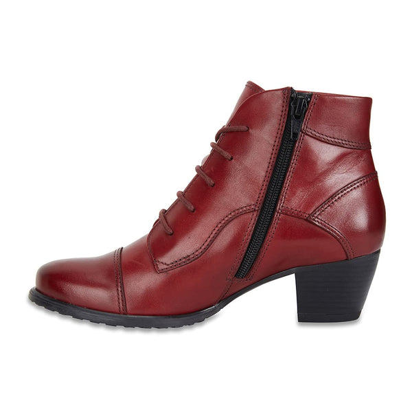 Limit Boot in Red Leather
