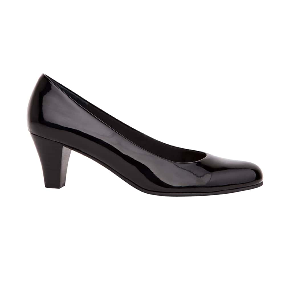 Linda Heel in Black Patent