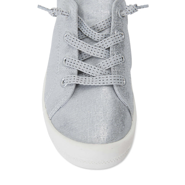 Link Sneaker in Silver Fabric