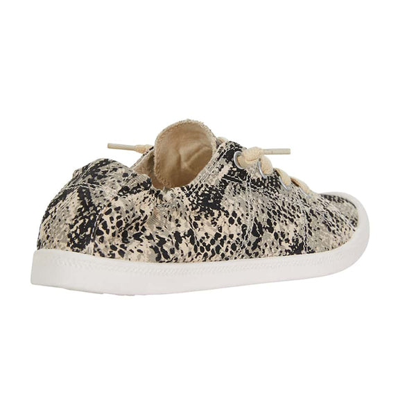 Link Sneaker in Taupe Snake Fabric