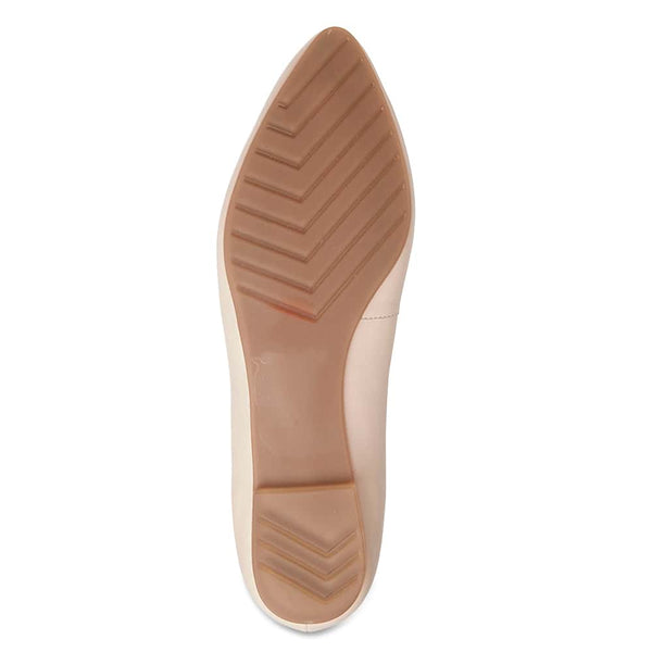 Lucia Flat in Blush Leather