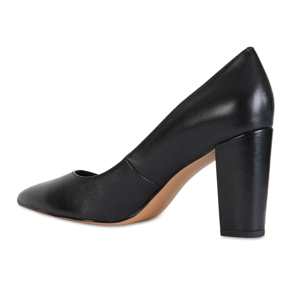 Lyric Heel in Black Leather