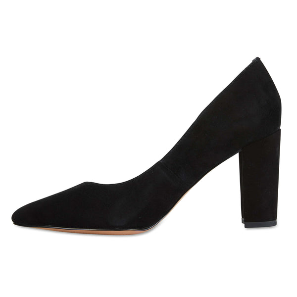 Lyric Heel in Black Suede