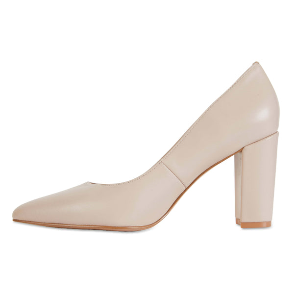 Lyric Heel in Blush Leather