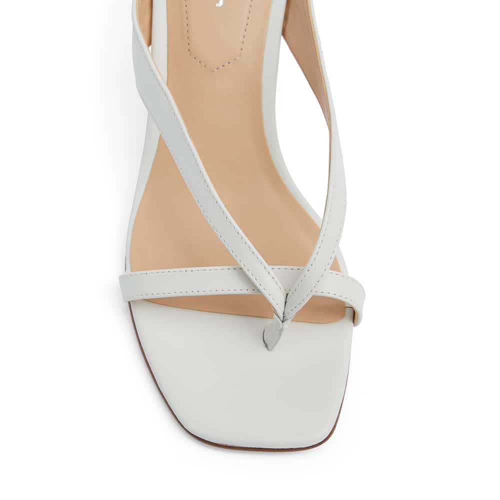 Madrid Heel in White Leather