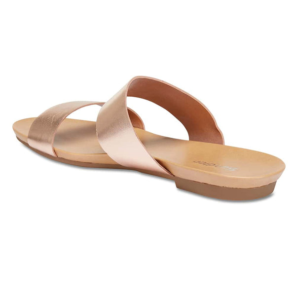 Malibu Sandal in Rose Gold Leather