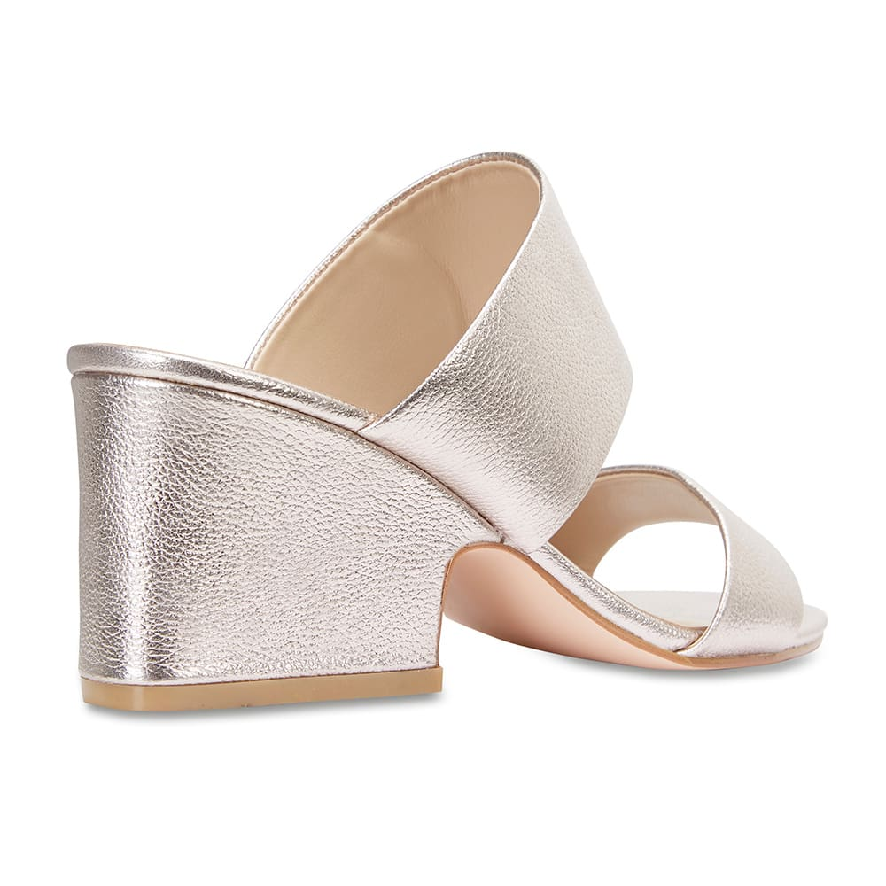 Marcella Heel in Soft Gold Leather
