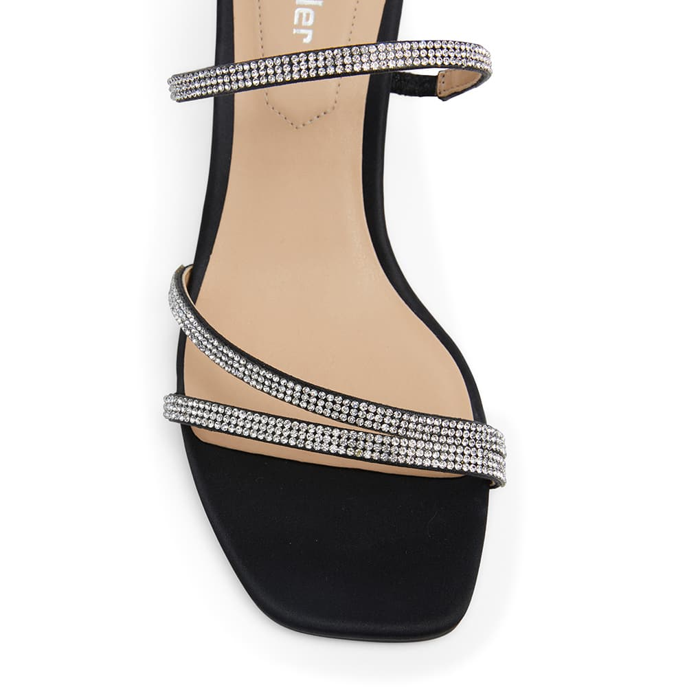 Marcy Heel in Black Sparkle