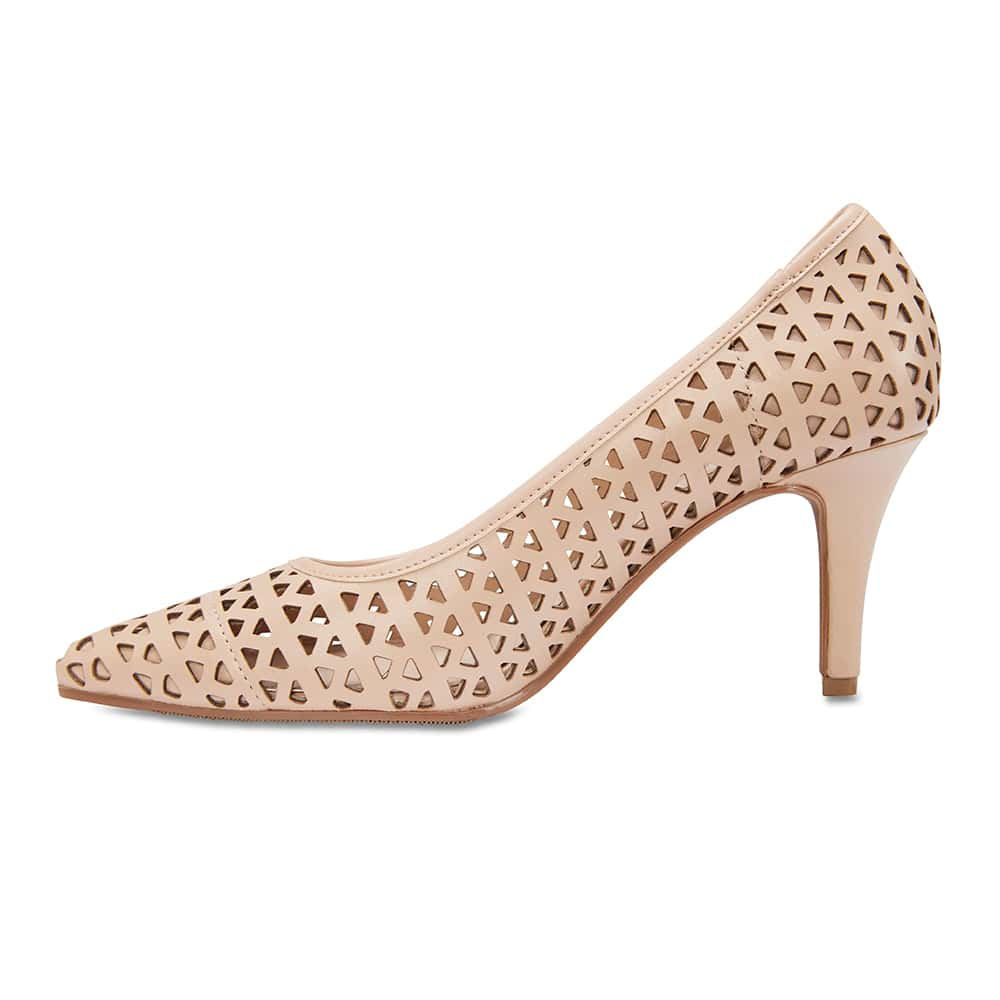 Melrose Heel in Nude Leather