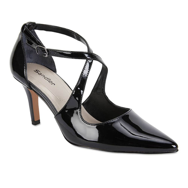 Merit Heel in Black Patent