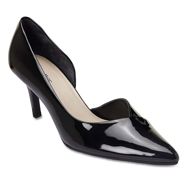 Mikado Heel in Black Patent