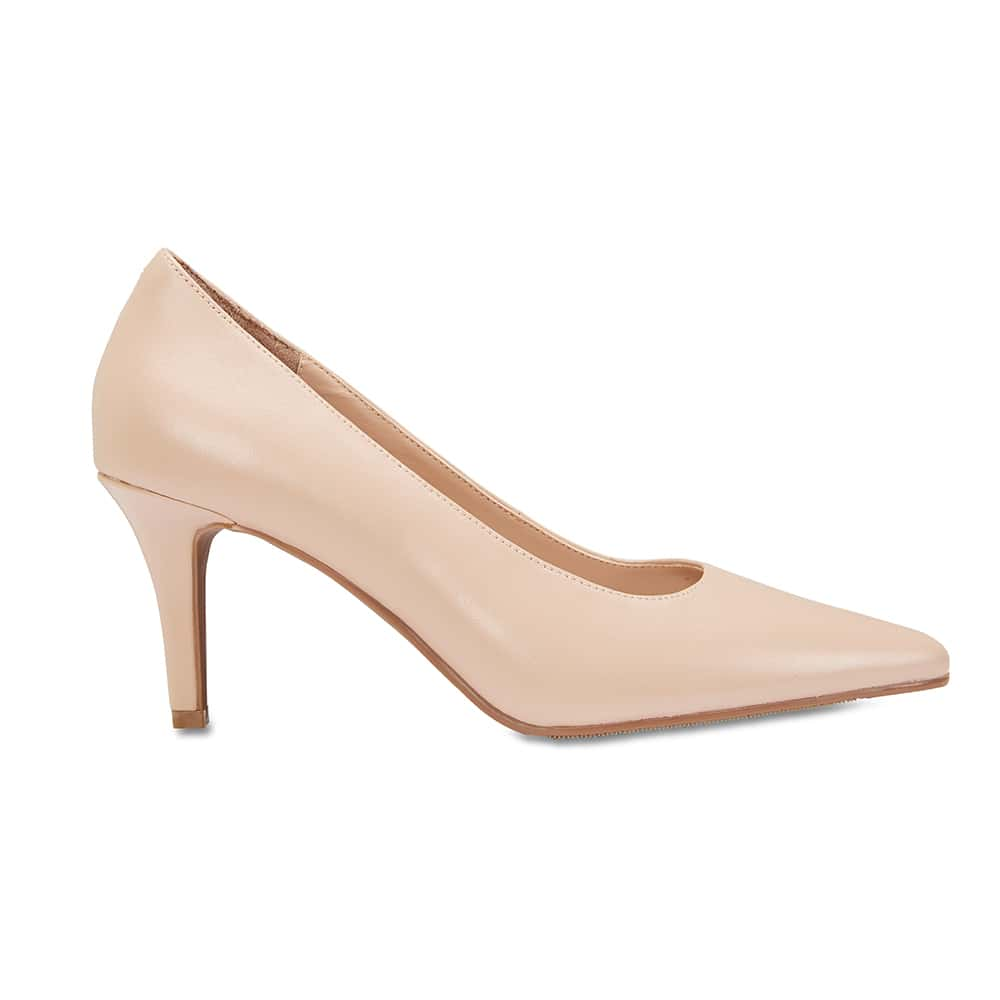 Milan Heel in Nude Leather