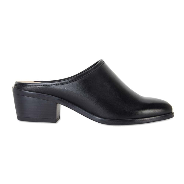 Mode Heel in Black Leather