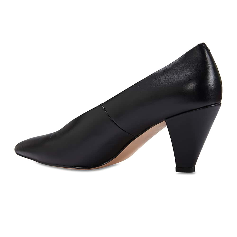 Nancy Heel in Black Leather