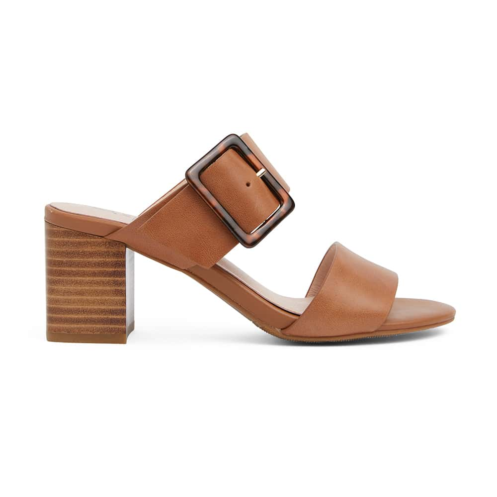 Nate Heel in Tan Leather
