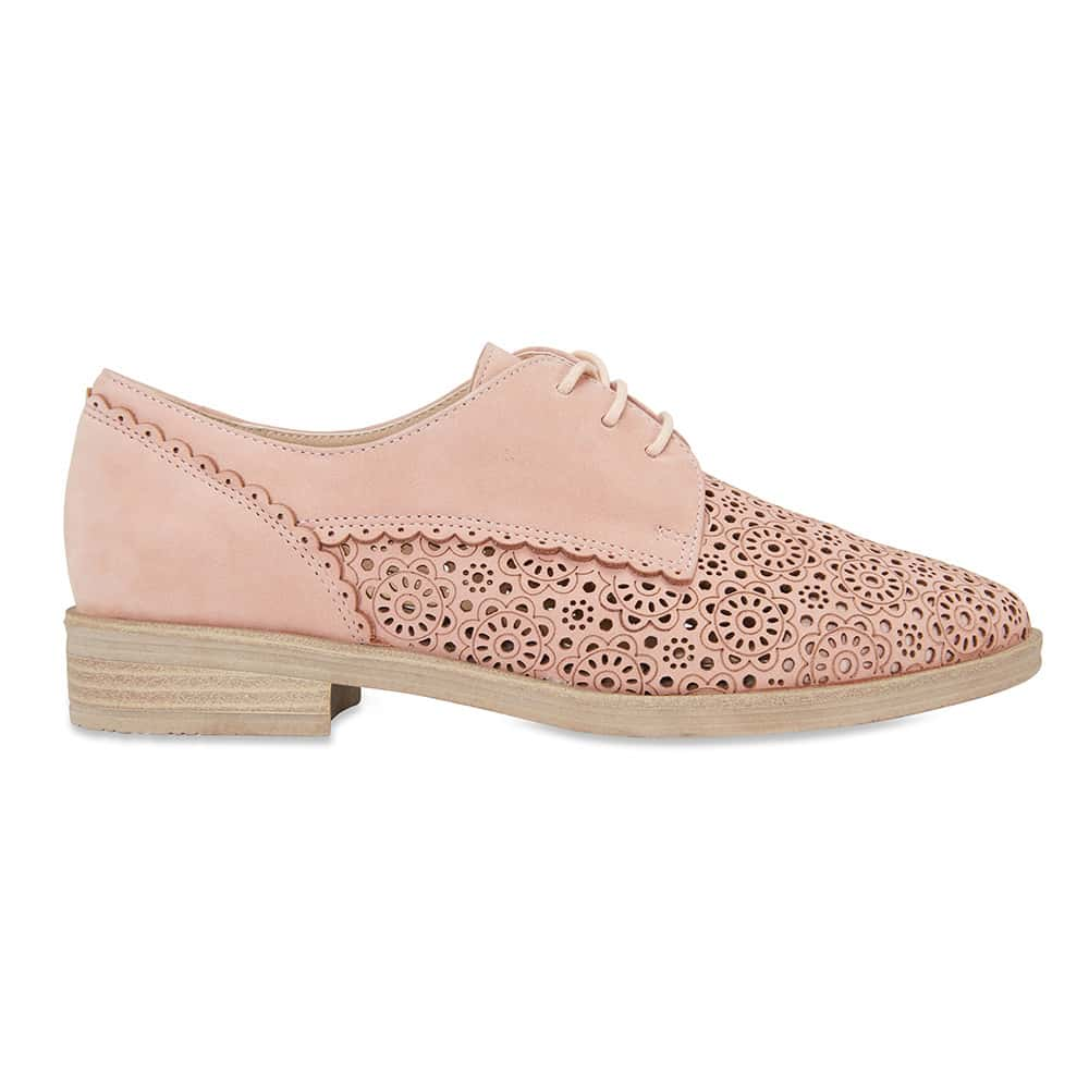 Nero Brogue in Pale Pink Nubuck