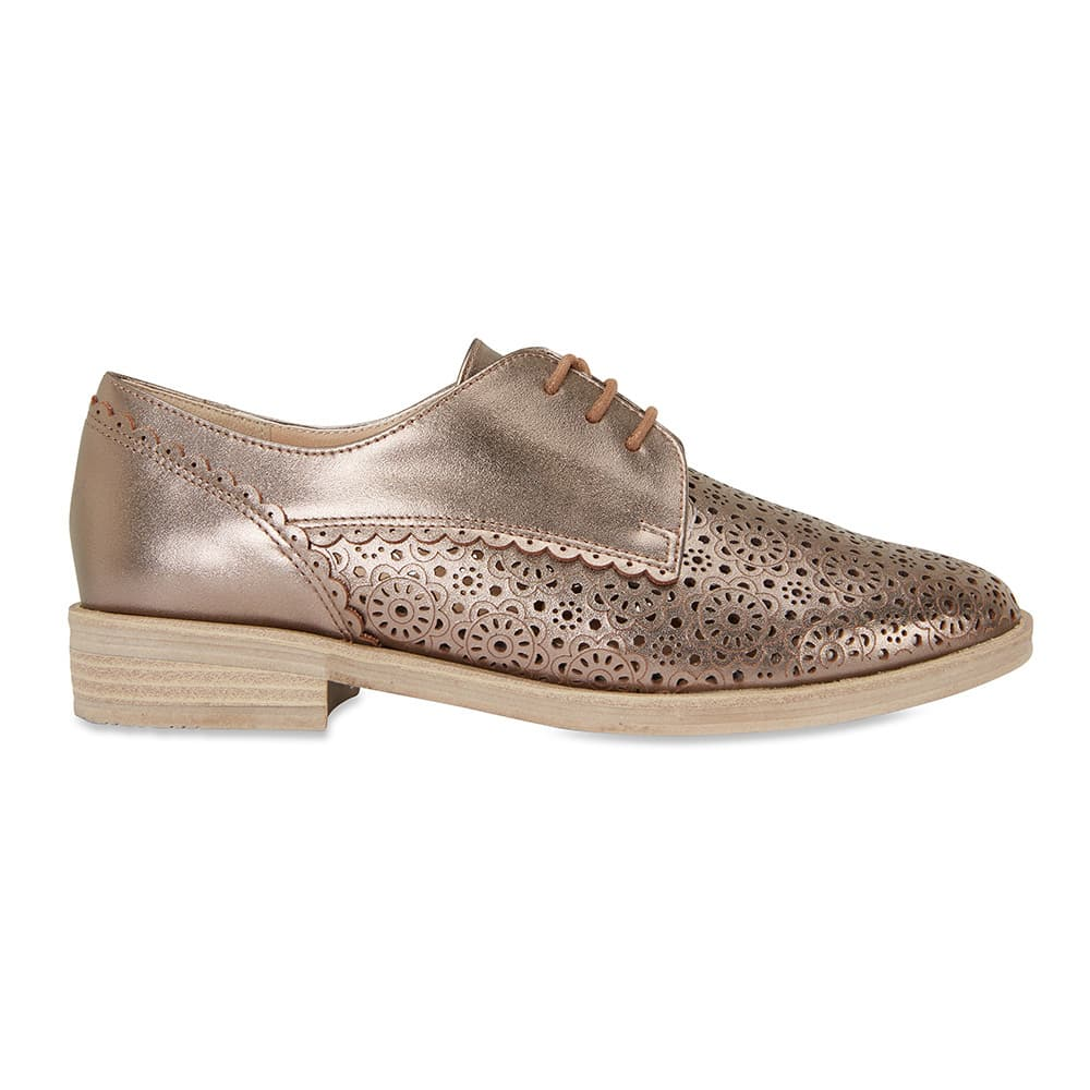 Nero Brogue in Pewter Leather