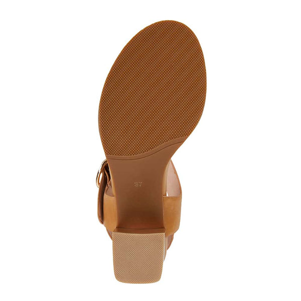 Nickel Heel in Tan Leather