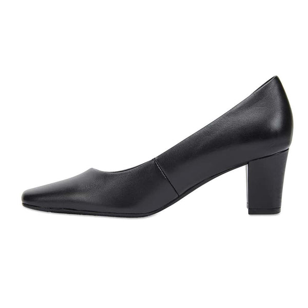 Nicole Heel in Black Leather