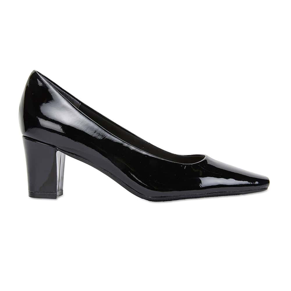 Nicole Heel in Black Patent