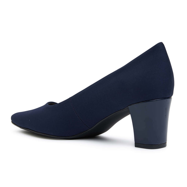 Nicole Heel in Navy Fabric