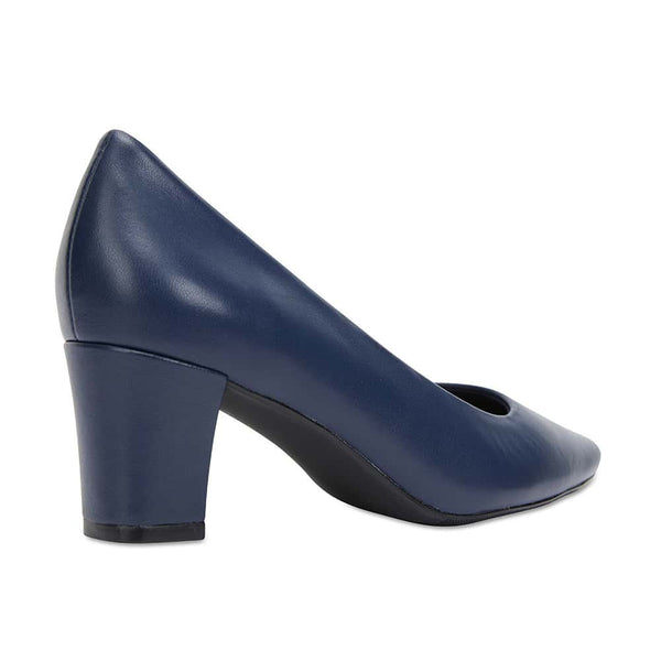 Nicole Heel in Navy Leather